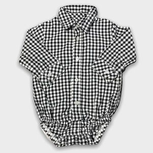 4/$20🥳 Checkered Long Sleeve Button Down Onesie